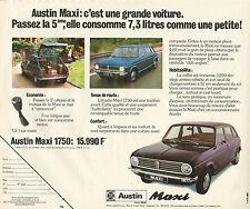 Publicité Advertising 1974  Austin Maxi