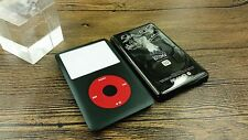 black front faceplate U2 metal back housing case for iPod 6th Classic 80gb 120gb