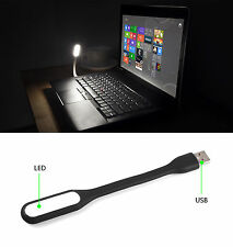 USB LED Light Mini Flexible Lamp For Computer Keyboard Reading Notebook PC Black
