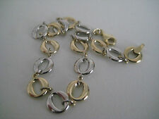 9ct yellow and white gold bracelet with links SPECIAL ARRIVAL ON PROMOTION