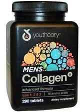 NEW YOUTHEORY MENS COLLAGEN ADVANCED FORMULA DIETARY SUPPLEMENT HEALTHY AGING