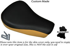 BLACK & CREAM CUSTOM FITS HARLEY DAVIDSON SPORTSTER 883 48 72 RIDER SEAT COVER