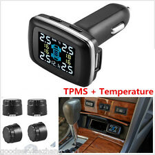 Car Auto TPMS Tire Pressure Monitoring System Wireless 4 Sensors LCD Display