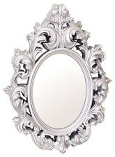 Catherine leggero ORNATA in plastica lucida Cornice Silver Mirror Wall