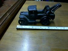 Vintage cast iron Wrecker-5 and 1/2 inches long- Heavy                     1-b-2