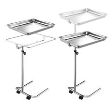 Mayo Style Steel Tray Stand Stainless Steel Dentist Medical Tattoo Equipment