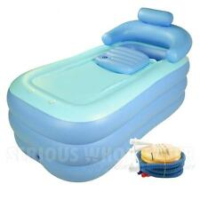 New Top Adult PVC fold Portable bathtub inflatable bath tub Air Pump Xmas Gifts