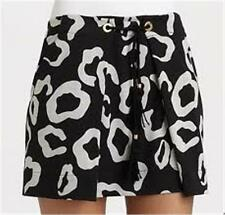 DVF Diane Von Furstenberg ERANTHE Mini Skirt Chess Black 10 US / 14 UK