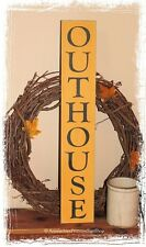 Outhouse Primitive Bathroom WOOD SIGN Rustic Home Decor