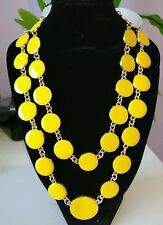 Contemporary necklace statement jewelry yellow and gold chain unique style funky