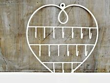 Wire Heart Key Jewellery Wall Hanger Holder Cream Metal Necklaces Earrings