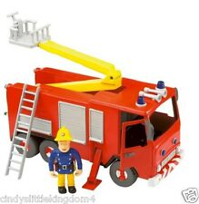 Fireman Sam Friction Jupiter Fire Engine & articulated Fireman Sam figure large