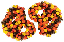 SweetGourmet Ashers Gourmet Milk Chocolate Covered Pretzels w/Reeses Pieces-1LB