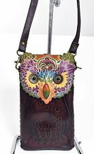Genuine Leather OWL Cell Phone XXL Case For iPhone 6 Plus/ Note 5 - Hand Tooled