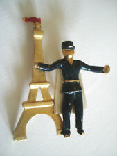 BROCHE MONUMENT PARIS TOUR EIFFEL AGENT OFFICIER POLICE GENDARMERIE