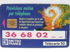 FRANCE TELECOM-TéléCARTE 50 unités-METEO FRANCE-PREVISION par téléphone