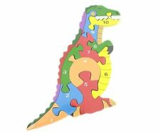 Wooden Dinosaur Puzzle Large Wooden Cut Number Jigsaw Puzzle For Children Kids
