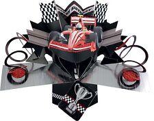 3D tarjeta Pop Up F1 Coche De Carreras Niño Cumpleaños Regalo de Recuerdo Diversión En blanco Tarjetas de felicitación