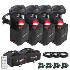 American DJ Inno Pocket Scan LED Mirror Scanner Four Pack + Bags + Clamps