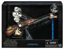 FIGURA STAR WARS THE BLACK SERIES SPEEDER BIKE + BIKER SCOUT, PRECINTADA BLISTER