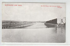 Manchester Ship Canal New Dock Filling With Water Seen From Grain Elevator 1911