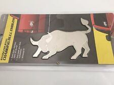 1pc Charging Bull Emblem Stainless Steel Emblem 3-D Decal for Cars,Truck's,Suvs,