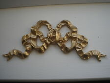 DECORATIVE FURNITURE MOULDING / MIRROR MOULDING FRENCH BOW METALLIC GOLD RESIN