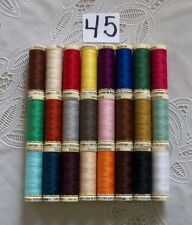 24 different colors GUTERMANN 100% polyester sew-all thread 110 yd Spools (#45)