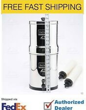 "Big Berkey Filter System w/ 2 9"" White Ceramic Filters - British Berkefeld- Fix"