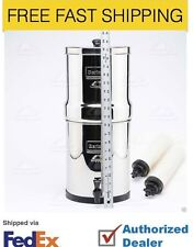 "New Big Berkey Filter System w/ 2 9"" White Ceramic Filters - British Berkefeld"