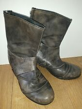 All saints leather boots size 5.