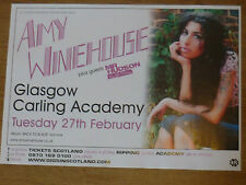 Amy Winehouse Glasgow 2007 concert tour gig poster