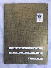 Catalogue Concours musical International Reine Elisabeth de Belgique 1959