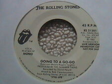 "ROLLING STONES ""GOING TO A GO-GO"" 7"" 45 WHITE LABEL PROMO 1982"