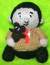 KNITTING PATTERN - Mr Bean and Teddy inspired choc orange cover or 14 cms toy