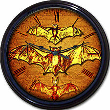 Steampunk Flying Bats Victorian Wall Clock Winged Gothic Goth Vintage New 10""