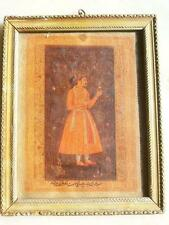 Vintage Old Collectible Indian Mugahal King Artist Fine Oil Painting On Clothe