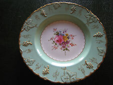 Royal Crown Derby Hand Painted and Gilded Cabinet Plate Vine Pattern