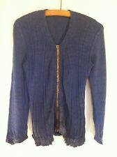 VTG French Antique 1930s Wool Darned Patched Repaired Cardigan Cardi Chore Work