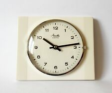 Vintage Pop Art style 1960s Ceramic Kitchen Wall clock MAUTHE Made in Germany ,