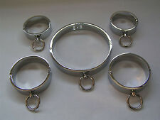 steel collar cuffs anklets set Handcuff  Restraint(5 pcs)/ Magnetic Locking Pin