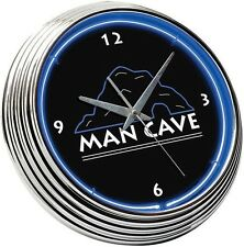 NEON CLOCK SIGN MAN CAVE