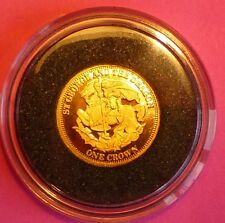 2011 TDC ST GEORGE AND THE DRAGON ONE CROWN  24 CT GOLD PROOF COIN  AND COA
