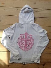 Genuine Juicy Couture  Towling Hoodie With Rear Logo And Diamantes. Size 40/L