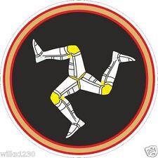 2x Isle of Man TT races stickers flag Graphic decals self adhesive vinyl badge