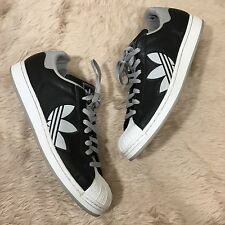 Adidas Superstar Black White LOGO Sneaker Shoes Athletic Men's Sz 13 Laces