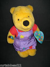 PLUSH DISNEY WINNIE THE POOH ARTIST SOFT TOY HOLDING PAINT BRUSH AND PALLETE