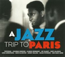 A JAZZ TRIP TO PARIS 2 CD FEATURING COLEMAN HAWKINS, ART BLAKEY, DON BYAS & MORE
