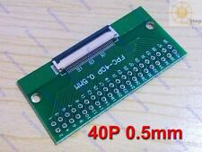 FFC FPC 40P 40 Pin 0.5mm to DIP 2.54mm Adapter plate PCB Board Converter driver