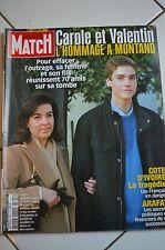 PARIS MATCH N° 2895--CAROLE ET VALENTIN MONTAND L'HOMMAGE/ARAFAT/COTE D'IVOIRE